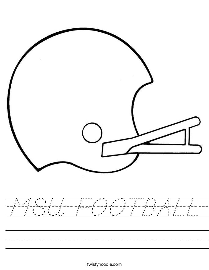 MSU FOOTBALL Worksheet