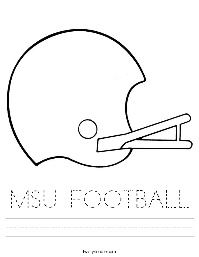 MSU FOOTBALL Worksheet