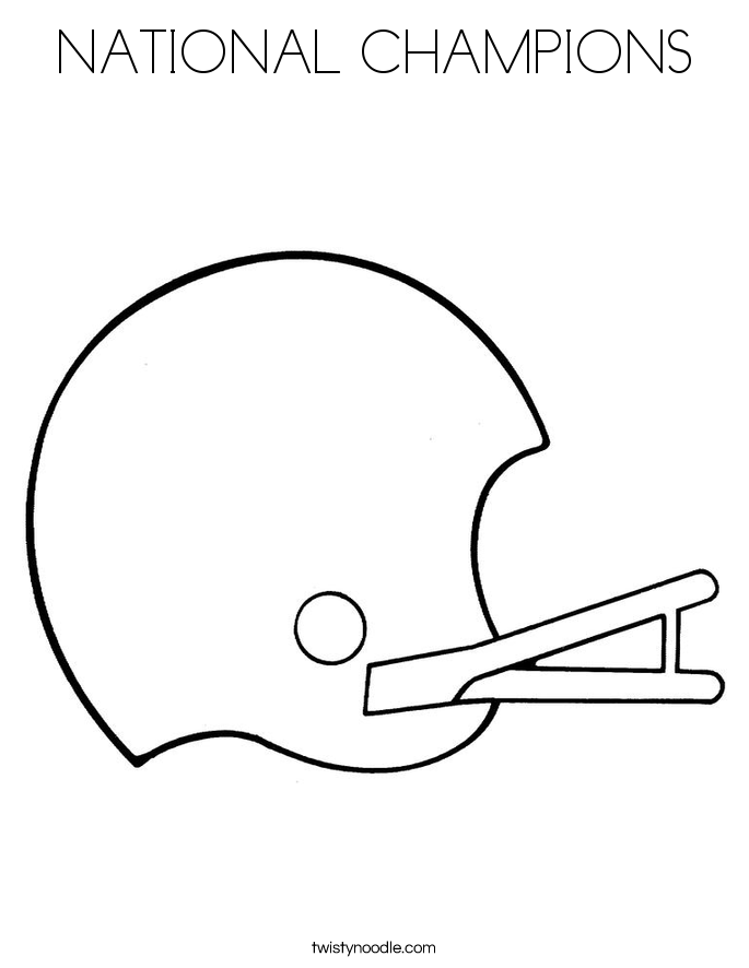 NATIONAL CHAMPIONS Coloring Page