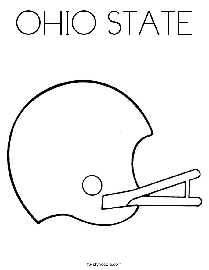 Ohio State Coloring Page Twisty Noodle Ohio State Coloring Pages