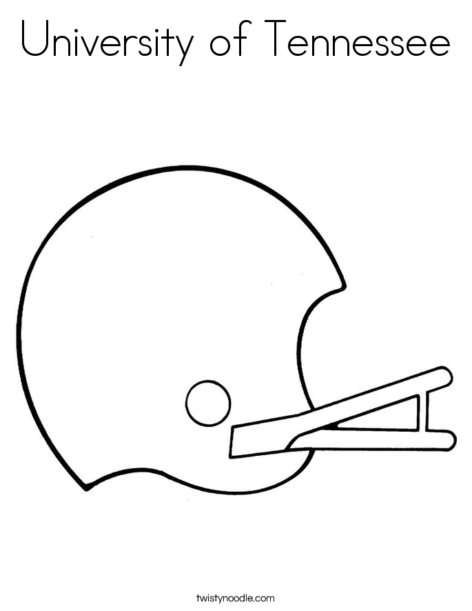 University of Tennessee Coloring Page