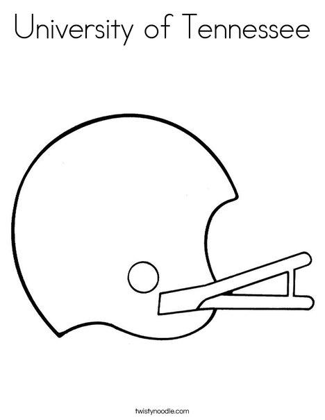 Helmet Coloring Page