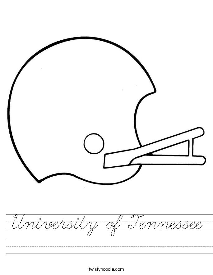 University of Tennessee Worksheet