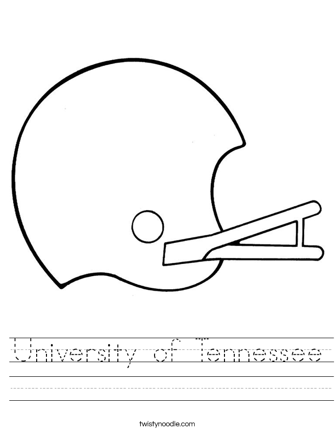 University of Tennessee Worksheet
