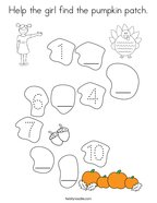 Help the girl find the pumpkin patch Coloring Page