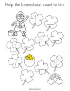 Help the Leprechaun count to ten Coloring Page