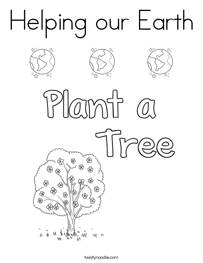 Helping our Earth Coloring Page