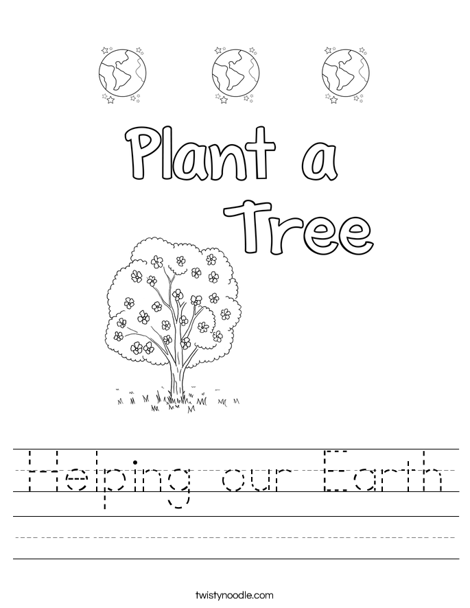 Helping our Earth Worksheet