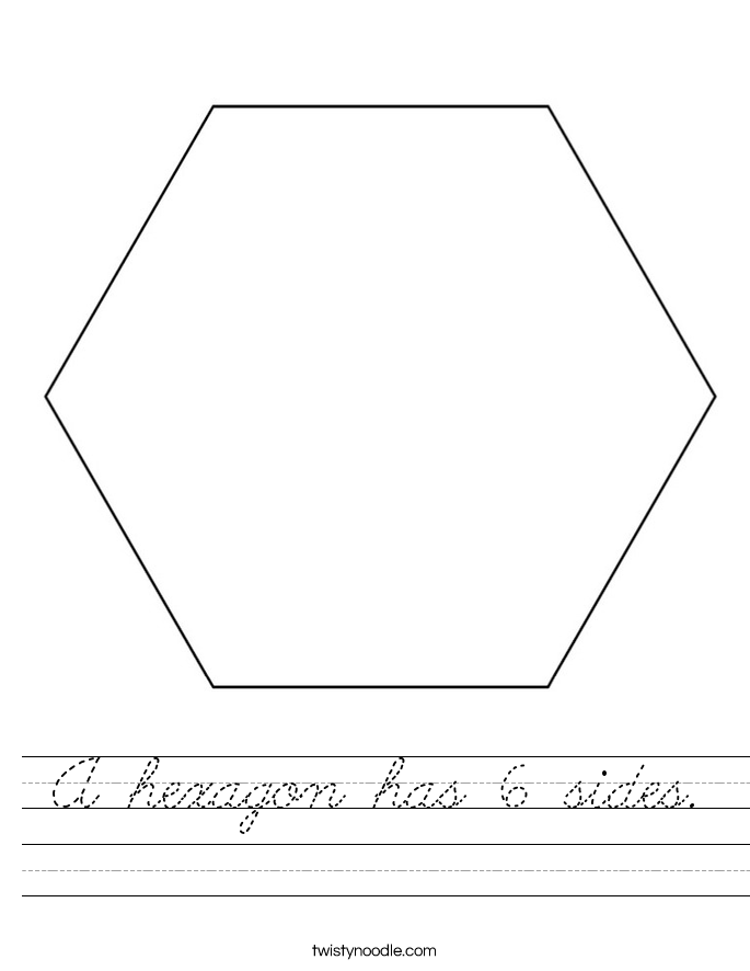 What Shape Has  Sides And  Letters