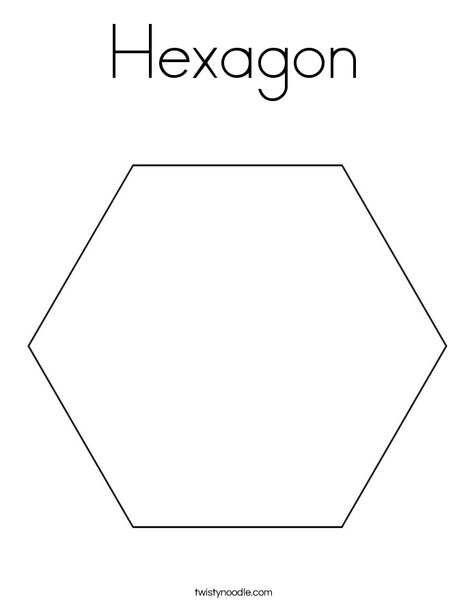 photo about Printable Hexagon Template identify Hexagon Coloring Web page - Twisty Noodle
