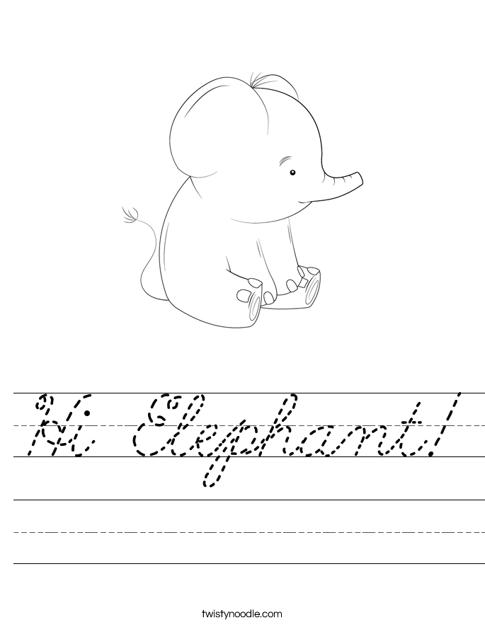 Hi Elephant! Worksheet