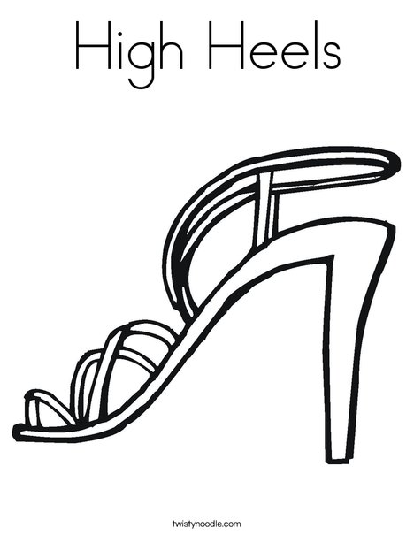 High Heels Coloring Page - Twisty Noodle