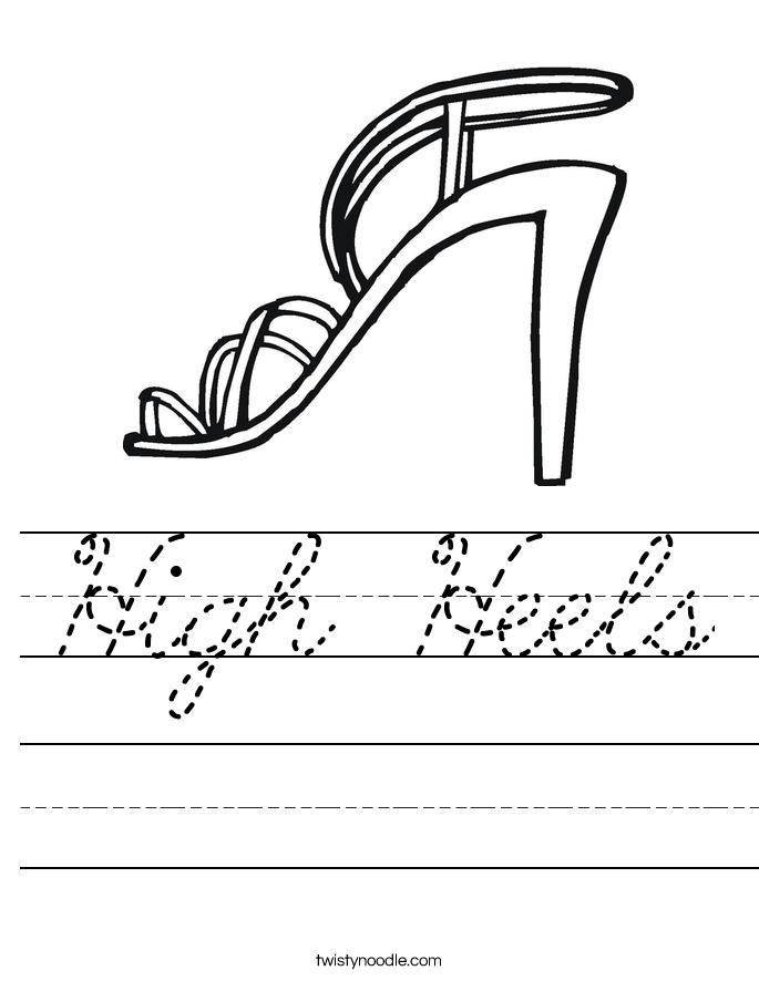 High Heels Worksheet