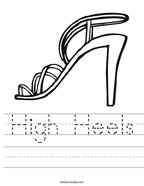 High Heels Handwriting Sheet