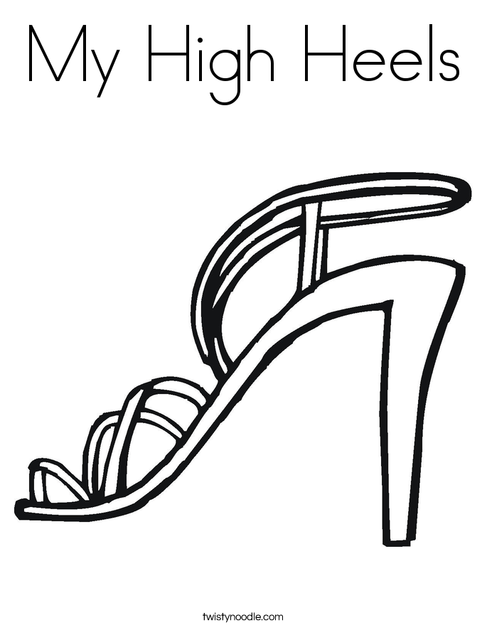 My High Heels Coloring Page