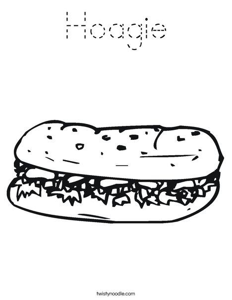 Hoagie Coloring Page