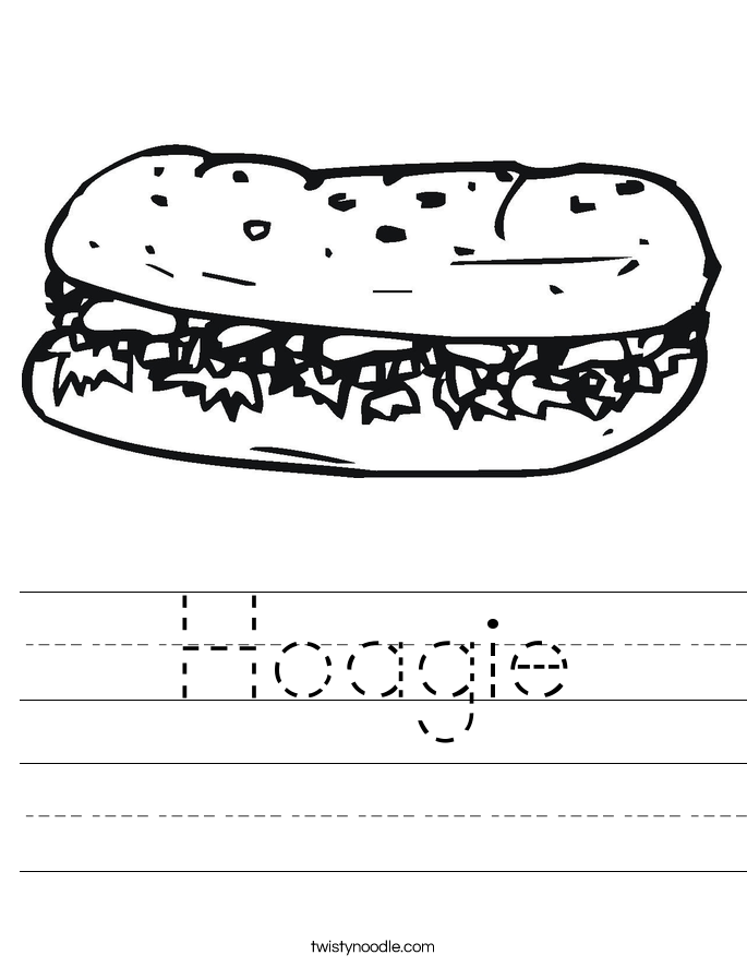 Hoagie Worksheet