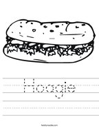 Hoagie Handwriting Sheet