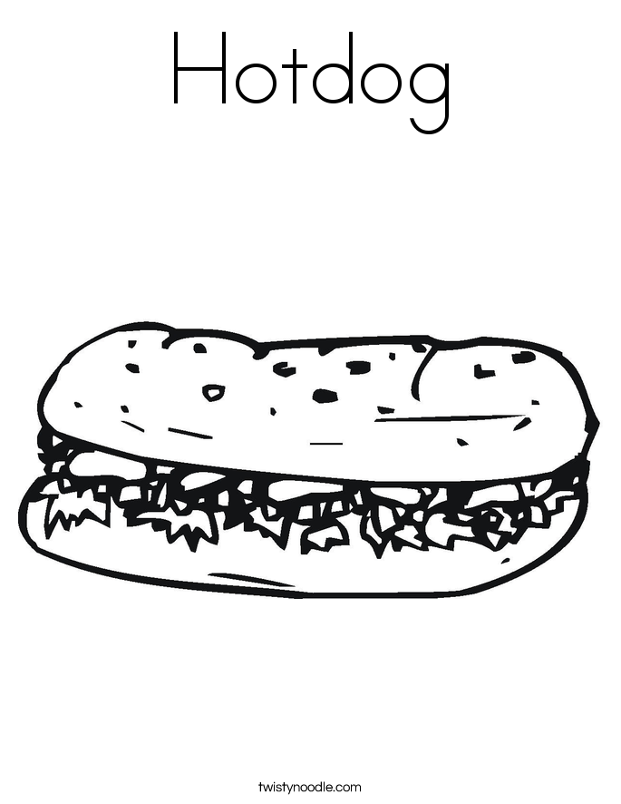 hotdog coloring page