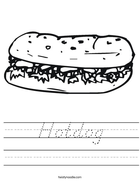 Hoagie Worksheet