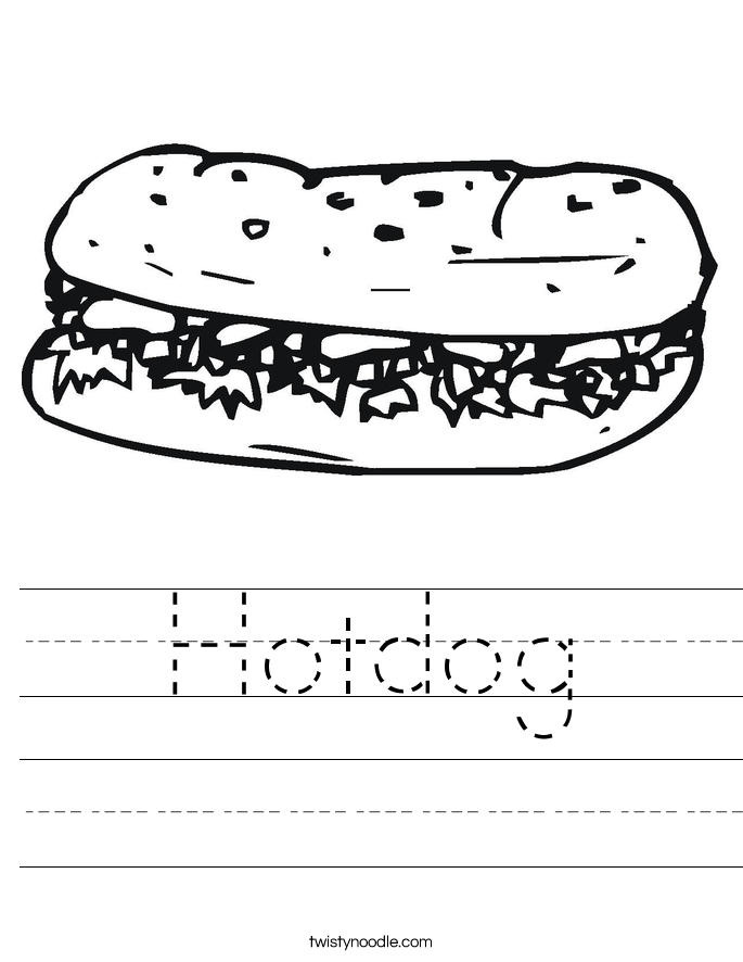Hotdog Worksheet