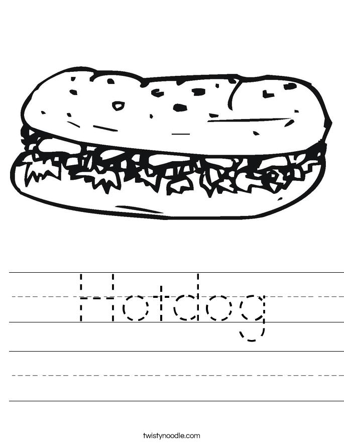 Hotdog Worksheet