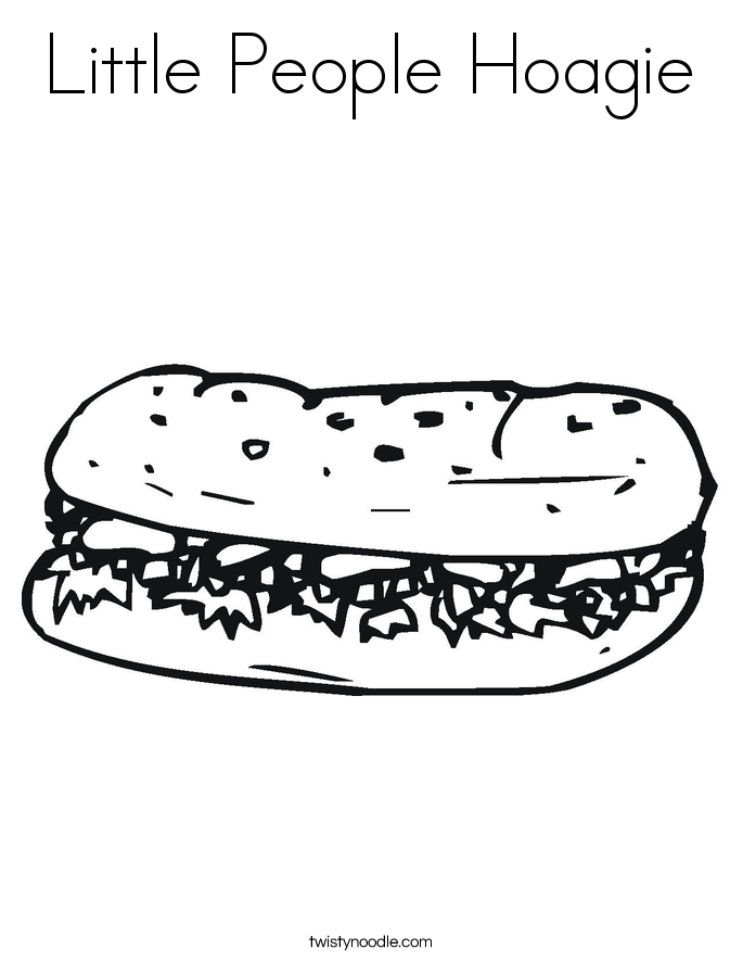 Little People Hoagie Coloring Page