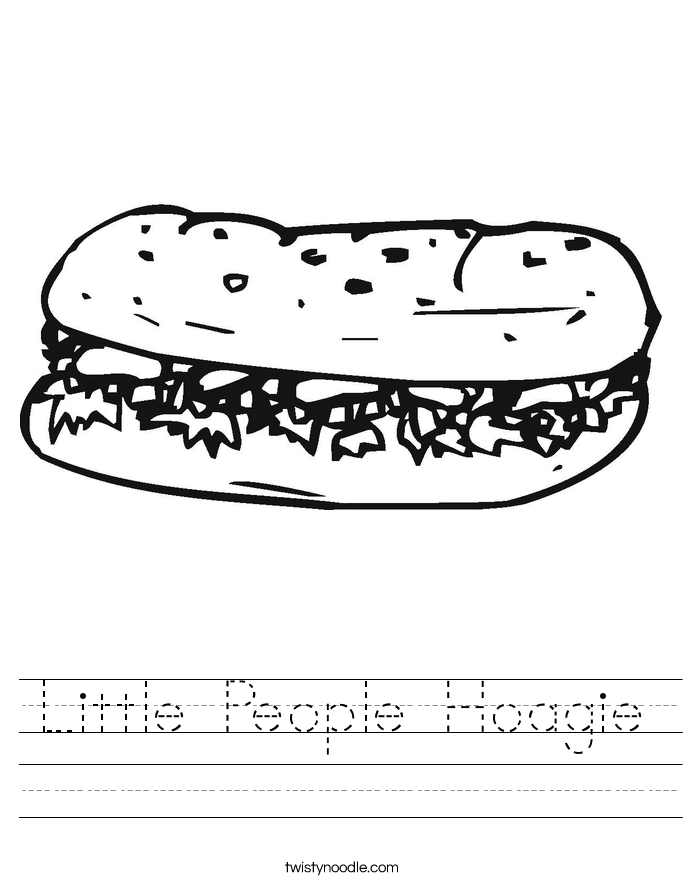 Little People Hoagie Worksheet