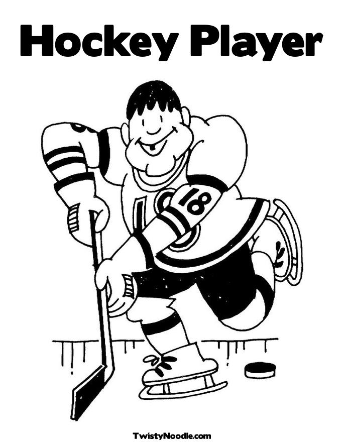 Beautiful Coloring Pages Hockey Players Nhl Images Coloring Page