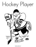 Hockey PlayerColoring Page
