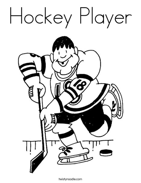 Hockey Player Coloring Page Twisty Noodle