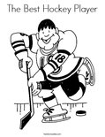 The Best Hockey PlayerColoring Page