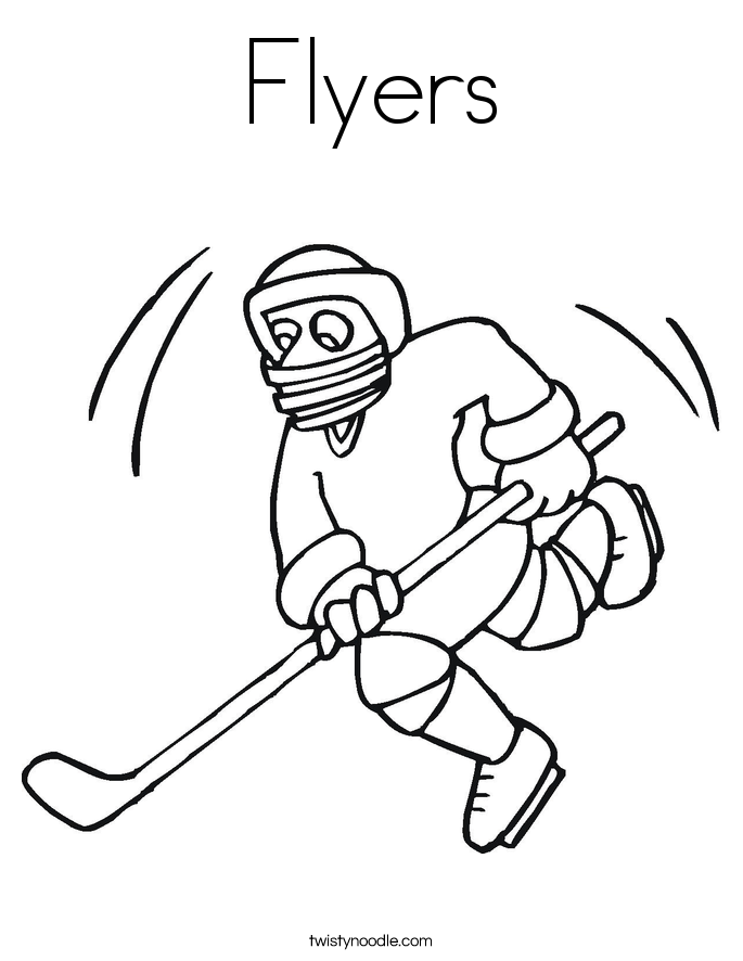 Flyers Coloring Page