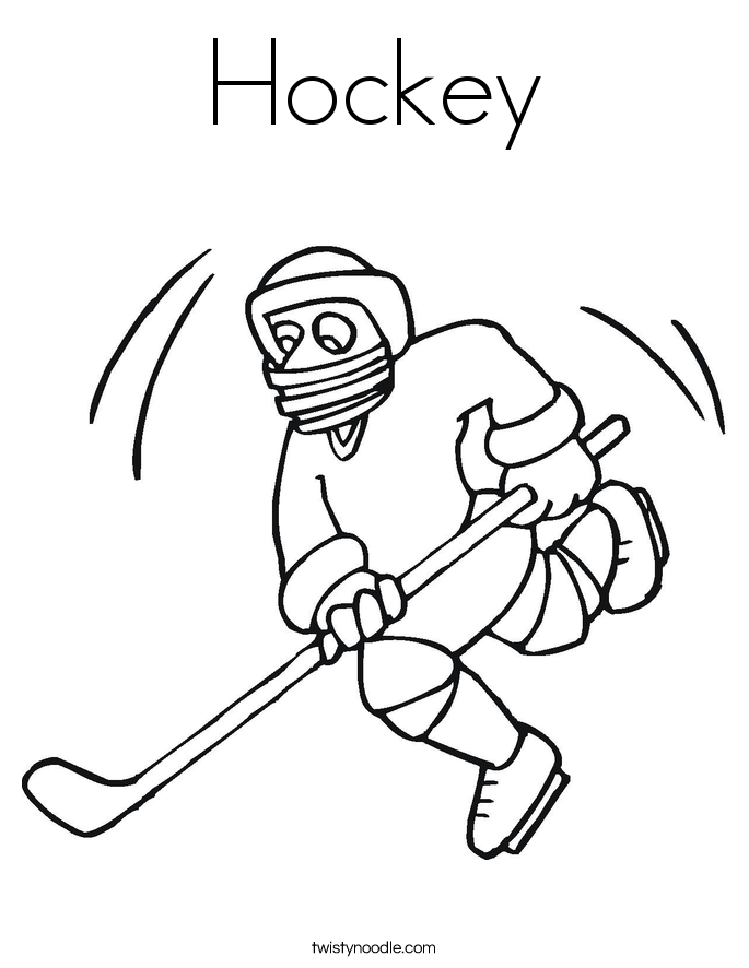 college hockey coloring pages | Hockey Coloring Page - Twisty Noodle