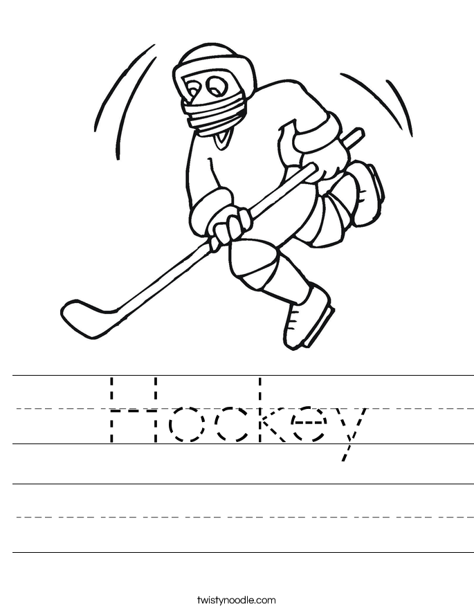 Hockey Worksheet