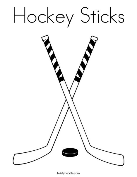 Coloring Pages Of Hockey Sticks