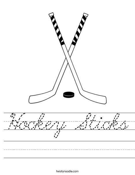 Hockey Sticks Worksheet