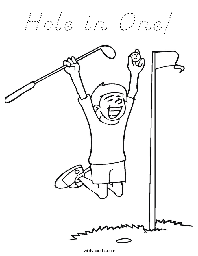 Hole in One! Coloring Page