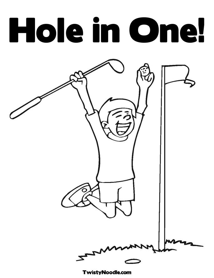 Hole in one coloring page jpg