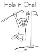 Hole in One Coloring Page