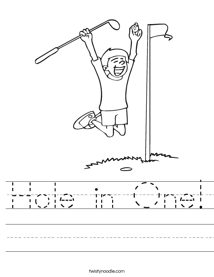 Hole in One! Worksheet