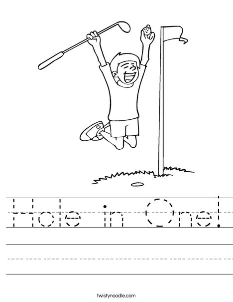 Hole in One Worksheet