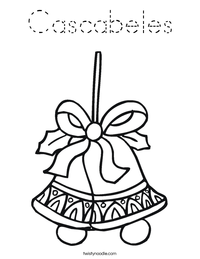 Cascabeles Coloring Page