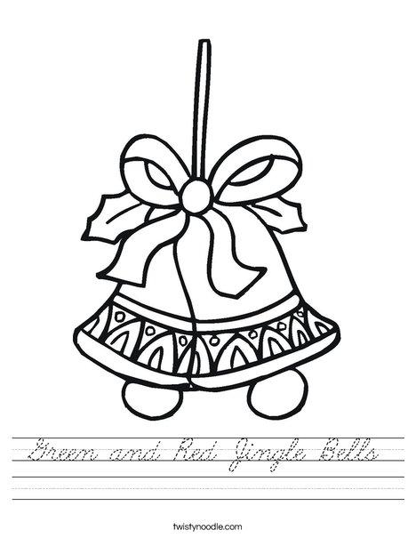 Holiday Bells Worksheet