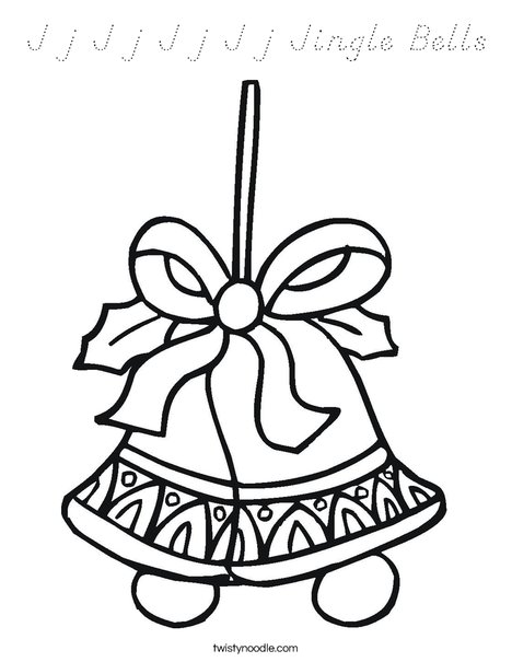 Holiday Bells Coloring Page