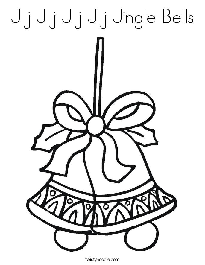 J j J j J j J j Jingle Bells Coloring Page - Twisty Noodle