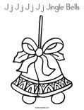 J j J j J j J j Jingle Bells Coloring Page