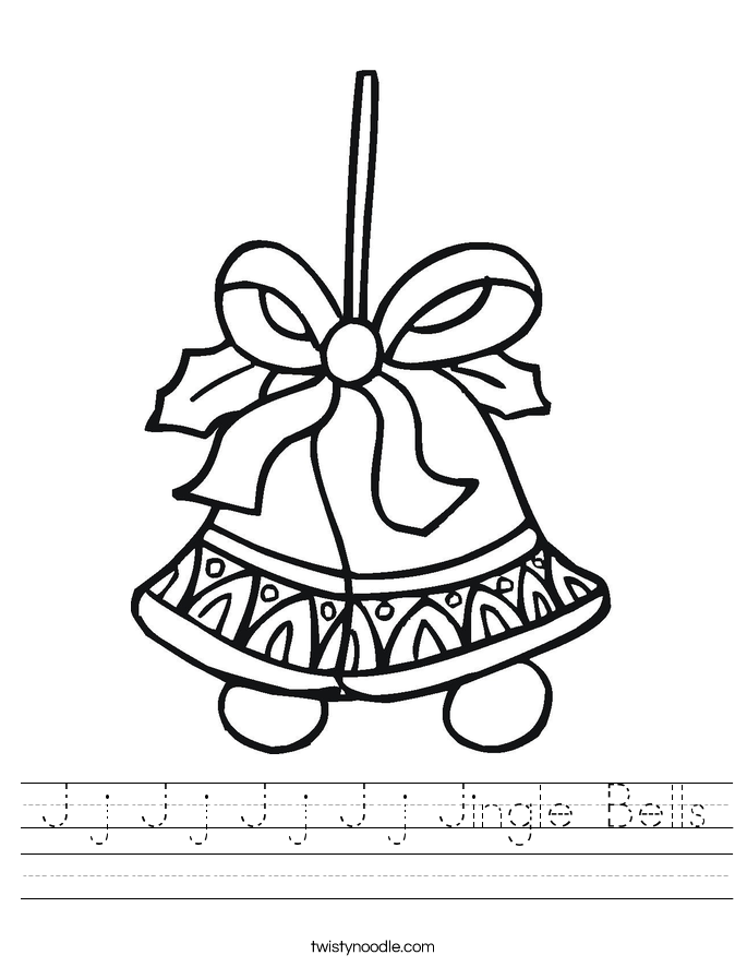 J j J j J j J j Jingle Bells Worksheet