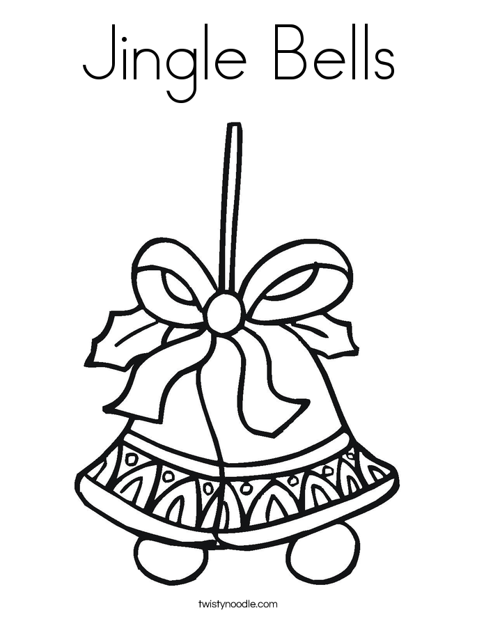 jingle bells coloring pages - photo#22