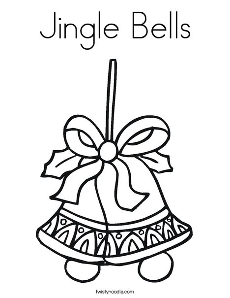 jingle bells coloring pages Jingle Bells Coloring Page   Twisty Noodle jingle bells coloring pages